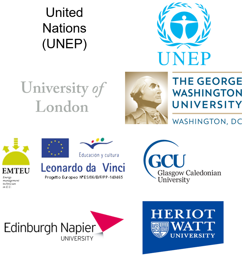 Leading Universities who the ECT works with to run courses in Energy, Management, Finance